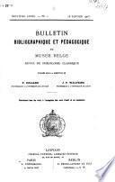 Bulletin bibliographique et pédagogique du Musée belge