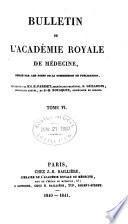 Bulletin de l'Academie de médecine