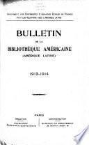 Bulletin de l'Amérique latine