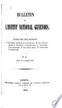 Bulletin de l'Institut national genevois