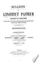 Bulletin de l'Institut Pasteur