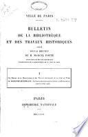 Bulletin de la bibliothèque et des travaux historiques