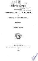 Bulletin de la Commission royale d'histoire