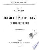 Bulletin de la Réunion des Officiers de Terre et de Mer