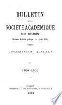 Bulletin de la Société Académique de Brest