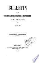Bulletin de la Société archéologique et historique de la Charente