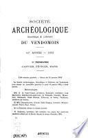 Bulletin de la Société archéologique, scientifique et littéraire du Vendômois