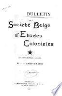 Bulletin de la Société belge d'études coloniales