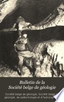 Bulletin de la Société belge de géologie