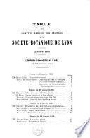 Bulletin de la Société botanique de Lyon