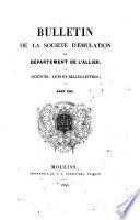 Bulletin de la Société d'émulation du Département de l'Allier