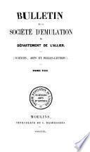 BULLETIN DE LA SOCIETE D'EMULATION