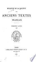 Bulletin de la Société des anciens textes français