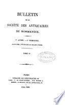 bulletin de la societe des antiquaires de normandie