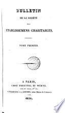 Bulletin de la Société des établissemens charitables