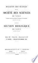 Bulletin de la Société des sciences de Nancy