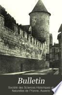 Bulletin de la Societe des sciences historiques et naturelles de l'Yonne