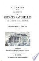 Bulletin de la Société des sciences naturelles de l'Ouest de la France
