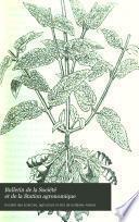 Bulletin de la Société et de la Station agronomique