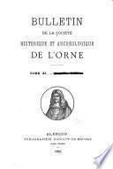 Bulletin de la Société historique et archéologique de l'Orne