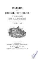 Bulletin de la Société historique et archeologique de Langres