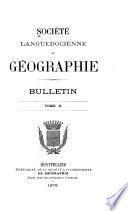 Bulletin de la Société languedocienne de géographie