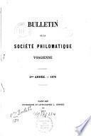 Bulletin de la Société Philomatique Vosgienne