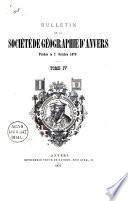 Bulletin de la Société Royale de Géographie d'Anvers