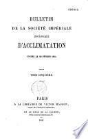 Bulletin de la Société zoologique d'acclimatation