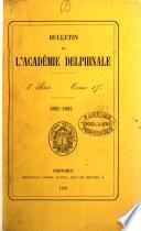 BULLETIN DE LACADEMIE DELPHINALE