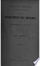 Bulletin des acquisitions étrangères de la Bibliothèque nationale