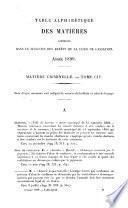 Bulletin des arrêts de la Cour de cassation rendus en matière criminelle