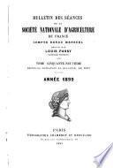 Bulletin des séances de la Société national d'agriculture de France