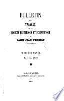 Bulletin des travaux de la Société historique et scientifique de Saint-Jean-d'Angély (Charente-Inférieure).
