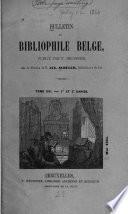 Bulletin du bibliographie belge