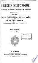 Bulletin historique, scientifique, littéraire, artistique et agricole illustré