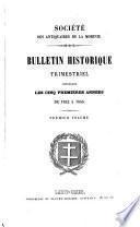 Bulletin historique trimestriel