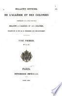 Bulletin officiel de l'Algérie et des colonies