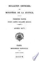 Bulletin officiel du Ministère de la Justice