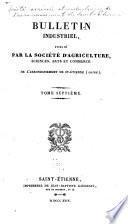 Bulletin publié par la Société agricole et industrielle de l'arrondissement de Saint-Étienne