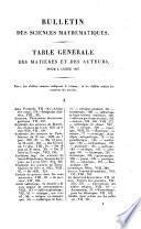 Bulletin universel des sciences mathématiques, astronomiques, physiques et chimiques