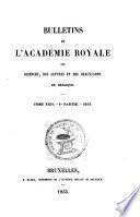 Bulletins de l'Académie royale des sciences et belles-lettres de Bruxelles