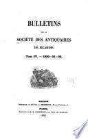 Bulletins de la Société des antiquaires de Picardie