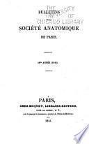 Bulletins et mémoires de la Société anatomique de Paris ...