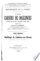 Cahiers de doléances pour les États généraux de 1789