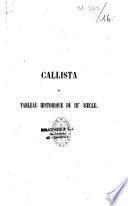 Callista ou tableau historique du IIIe siècle