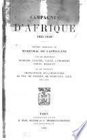 Campagnes d'Afrique, 1835-1848