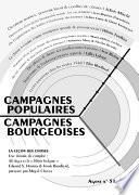 Campagnes populaires, campagnes bourgeoises