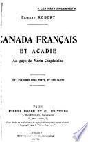 Canada français et Acadie