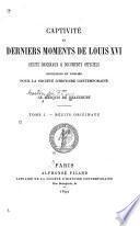 Captivité et derniers moments de Louis XVI